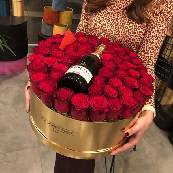 Billionaire Roses Özel Tasarım Kutu Gül Ürünler 01