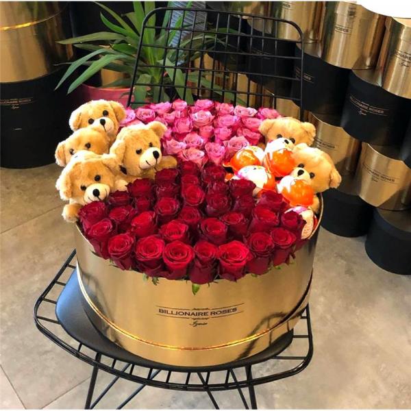 Billionaire Roses Özel Tasarım Kutu Gül Ürünler 04