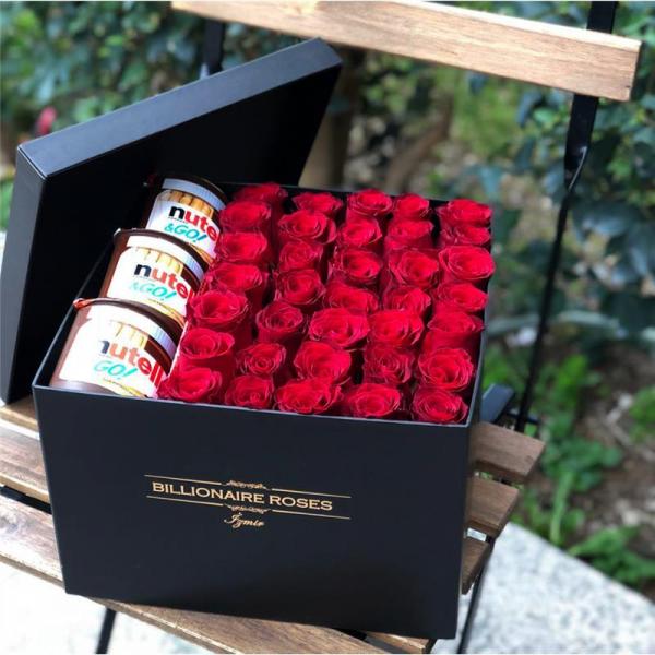 Billionaire Roses Özel Tasarım Kutu Gül Ürünler 06