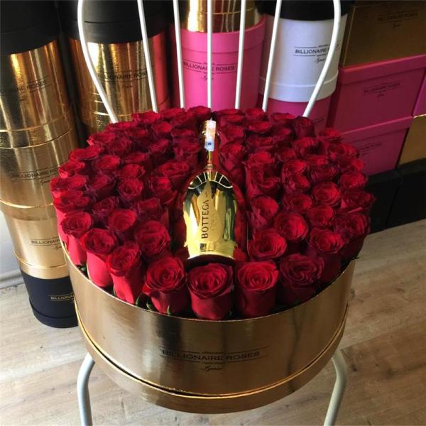 Billionaire Roses Özel Tasarım Kutu Gül Ürünler 07